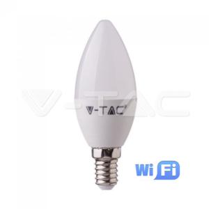 Wifi λάμπα LED E14 κερί 4.5W RGB+λευκό VTAC