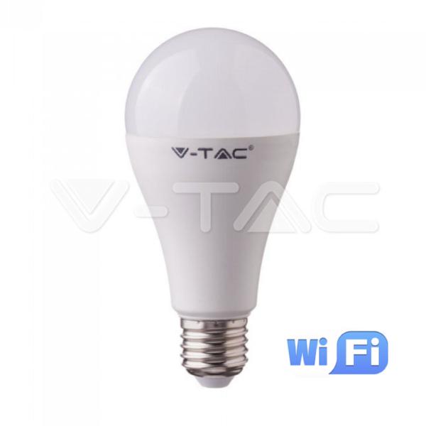 Wifi λάμπα LED E27 A65 15W RGB+λευκό VTAC
