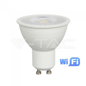 Wifi LED σποτ GU10 4.5W RGB+λευκό VTAC